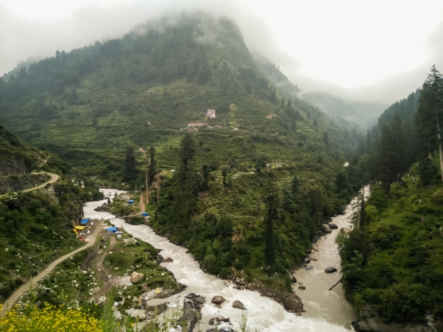 Confluence of Parvati and Tosh rivers at Barshaini, Himachal Pradesh, Shwetha Krish, ShoePenLens